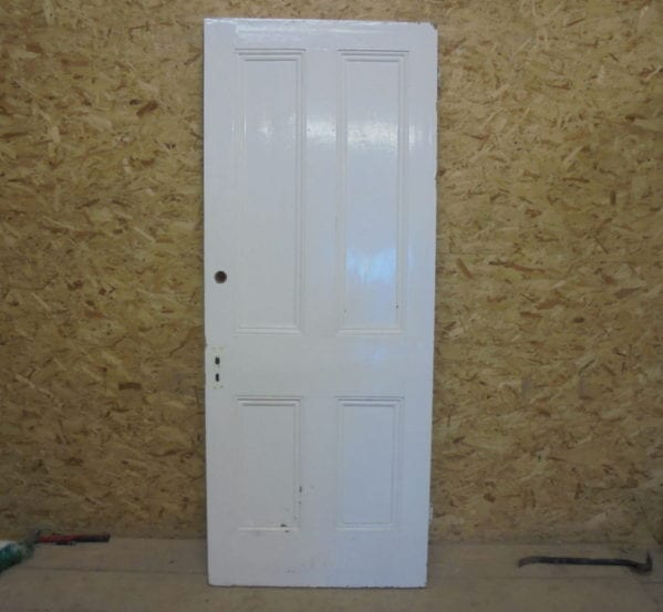 Large Painted 4 Panelled Door