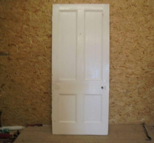 XL White 4 Panelled Door