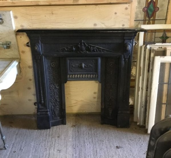 Black Reproduction Victorian Style Fire Surround