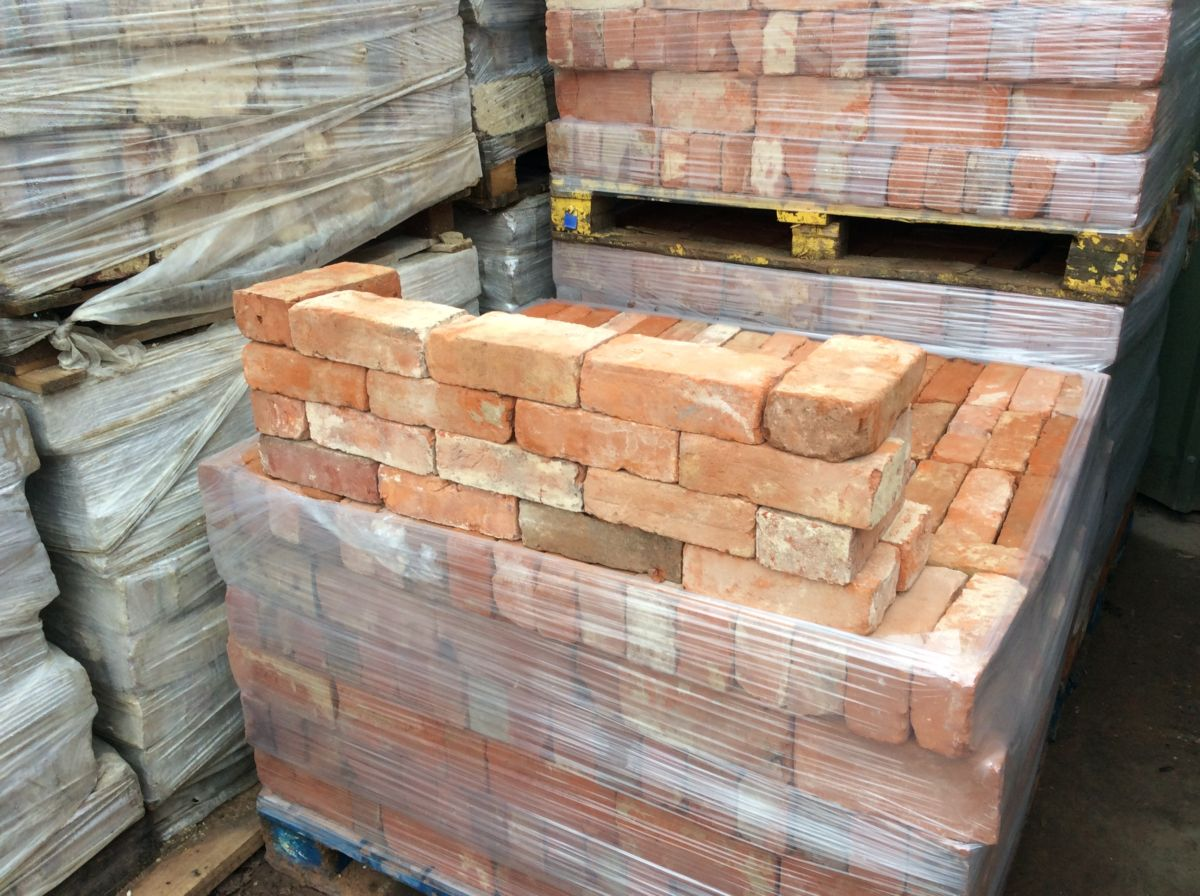 Handmade Reclaimed Orange Bricks