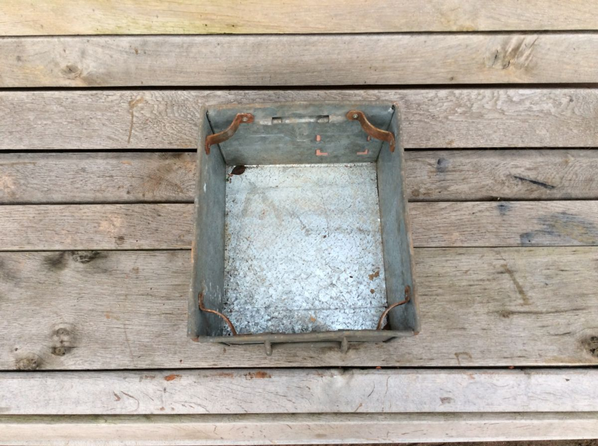Industrial Galvanised Tin Container