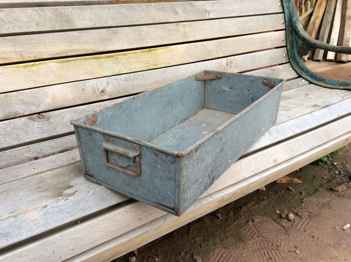 Large Galvanised Tin Containers