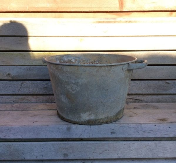 Galvanised Tin Bucket