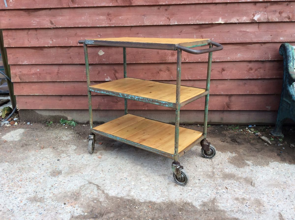 Up-cycled Trolley & Shelves