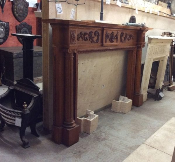 Large Arts and Crafts Style Fire Surround