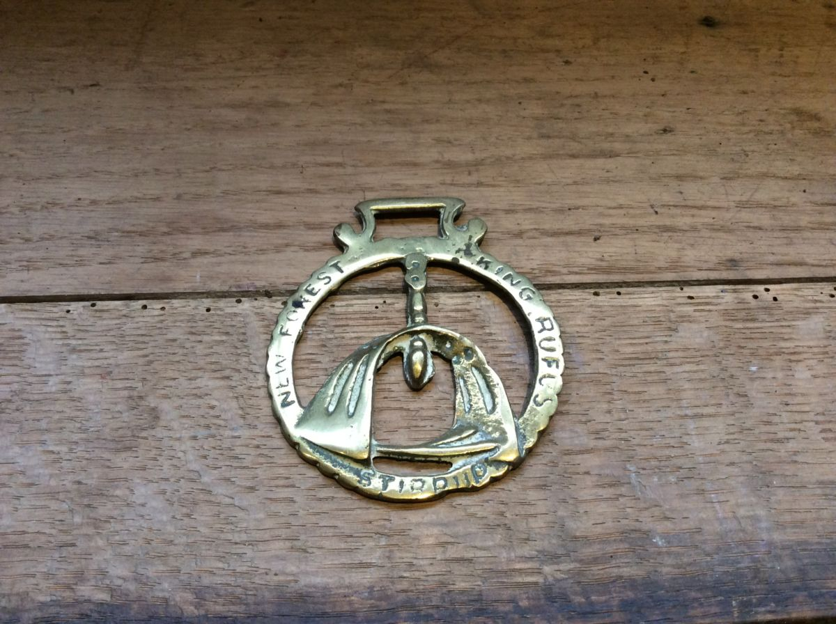 New Forest King Rufus Stirrup Brass Buckle
