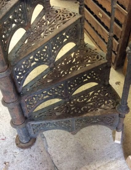 Victorian cast iron spiral staircase authentic reclamation
