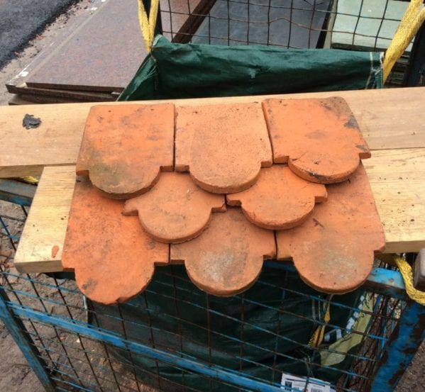 Handmade Orange Reclaimed Club Clay Tile