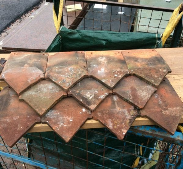 Handmade Reclaimed Shield Hanging Clay Tile