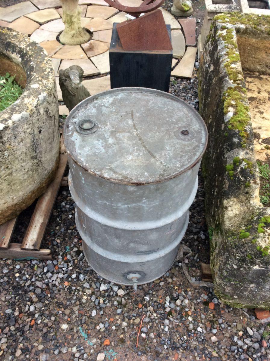 Galvanised Tin Oil Container