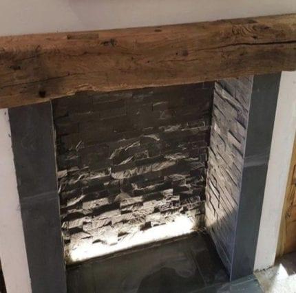 Reclamation Oak Beams - fireplaces