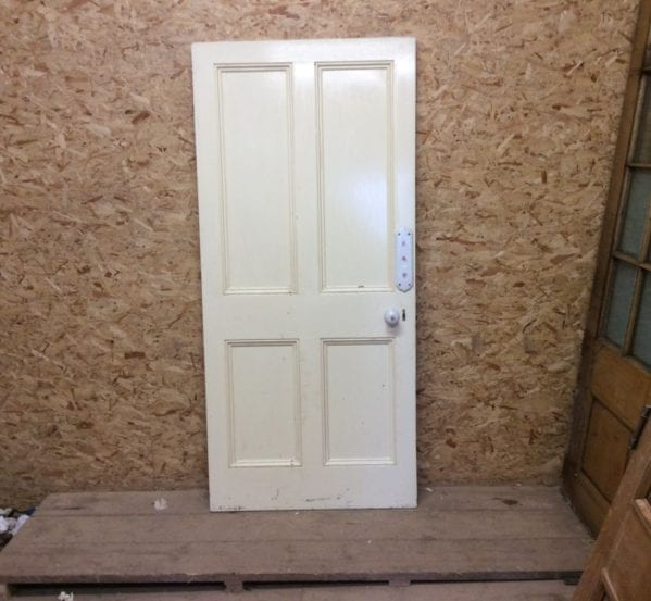 ReclaimedFloral Fitted Painted 4 Panel Door