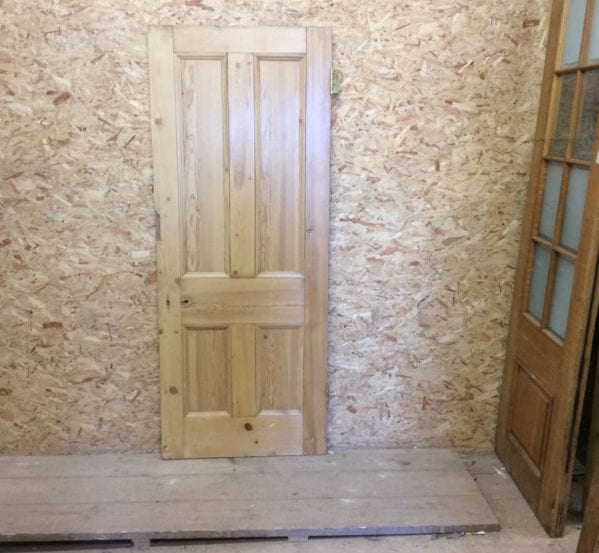Varnished Reclaimed 4 Panel Pine Door