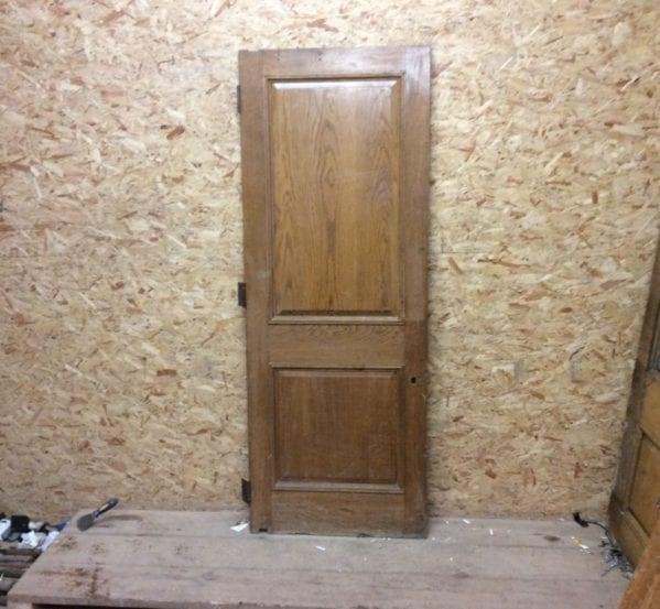 Varnished Reclaimed Wentworth Oak Door