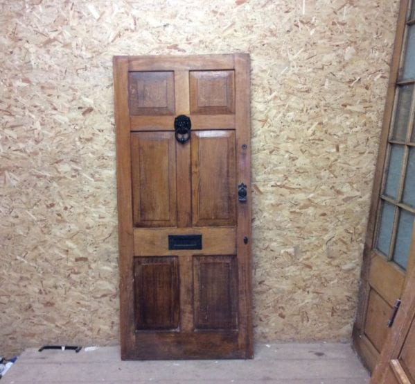 Reclaimed Lion Knocker Oak Front Door