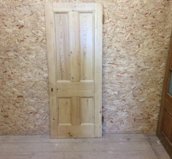 4 Panel Stripped Reclaimed Pine Door
