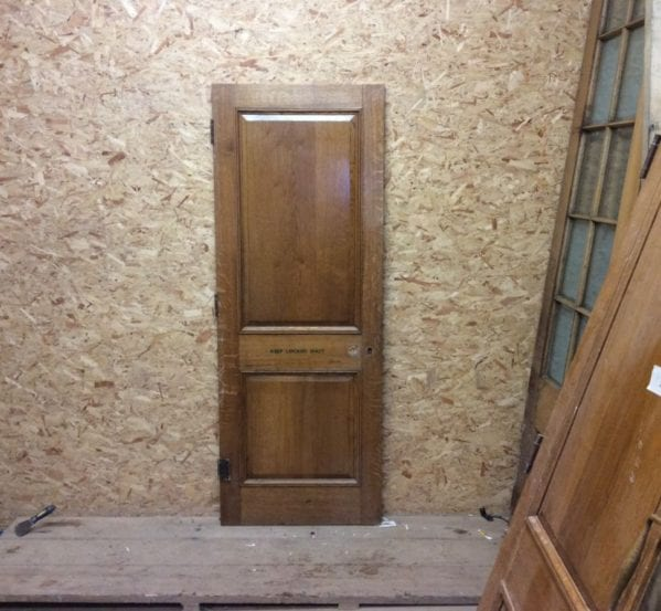 Reclaimed Solid Oak Fire Door