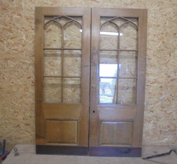 Half Glazed Wentworth Oak Double Doors