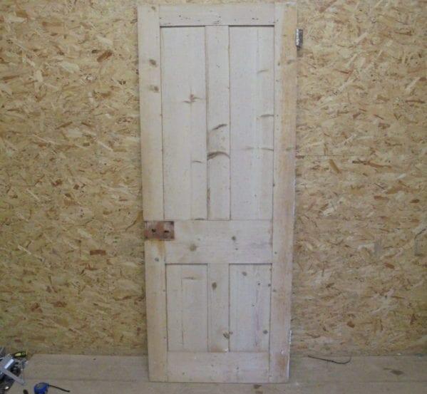 Beautiful Stripped Pine 4 Panelled Door