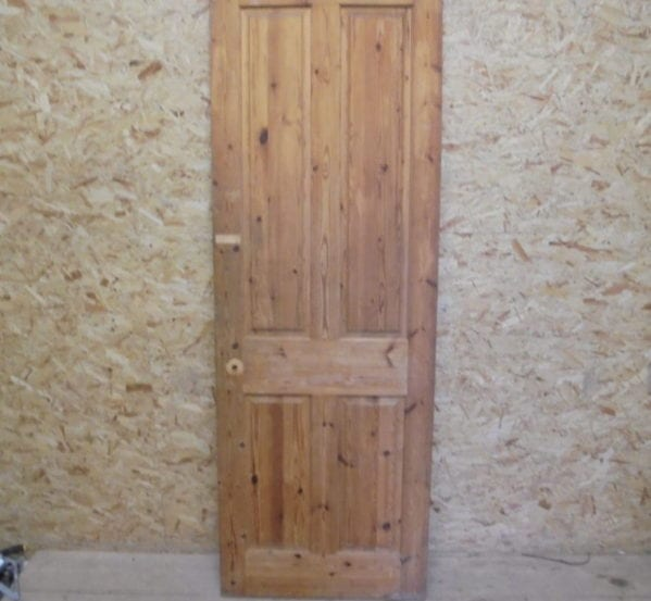 Attractive 4 Panelled Stripped Pine Door