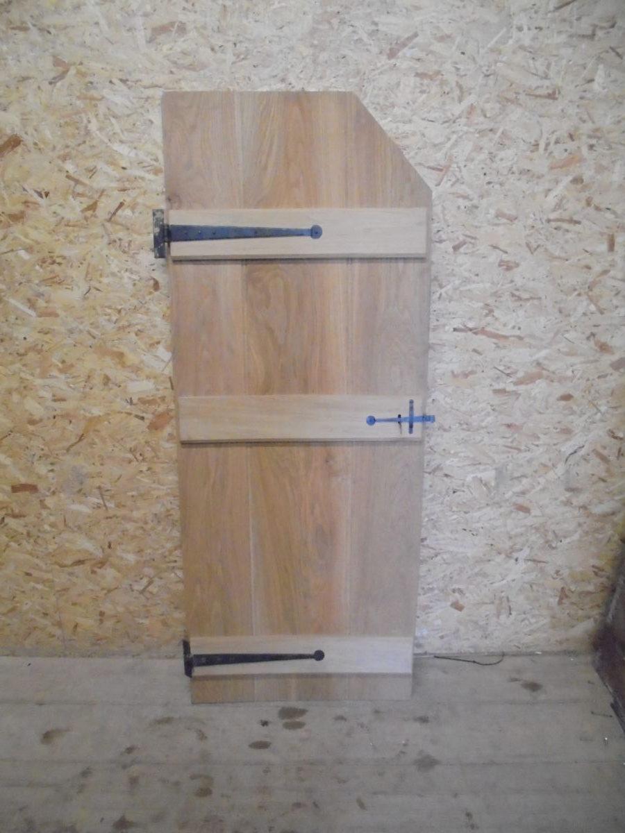 Beautiful Light Oak Ledge Amp Brace Corner Cut Door