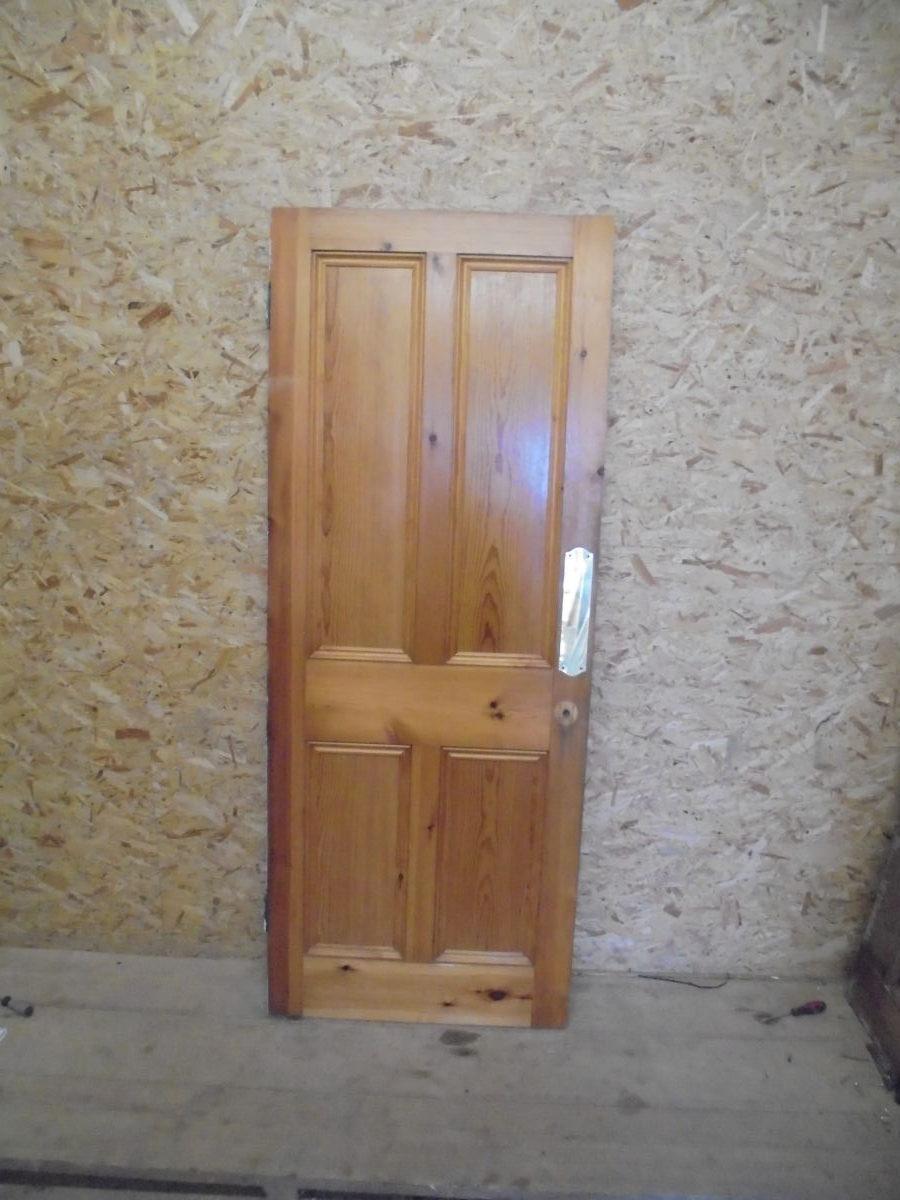 STOCK REF: 146226411 Attractive Stripped Pine U0026 Varnished 4 Panel Door ...
