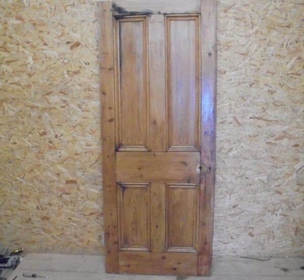 Beautiful 4 Panelled Stripped Door