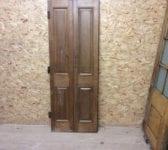 Reclaimed Dark Stained Bi Fold Oak Doors