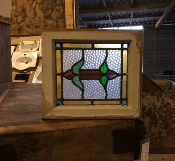 Small Double Ended Rose Stained Glass Window