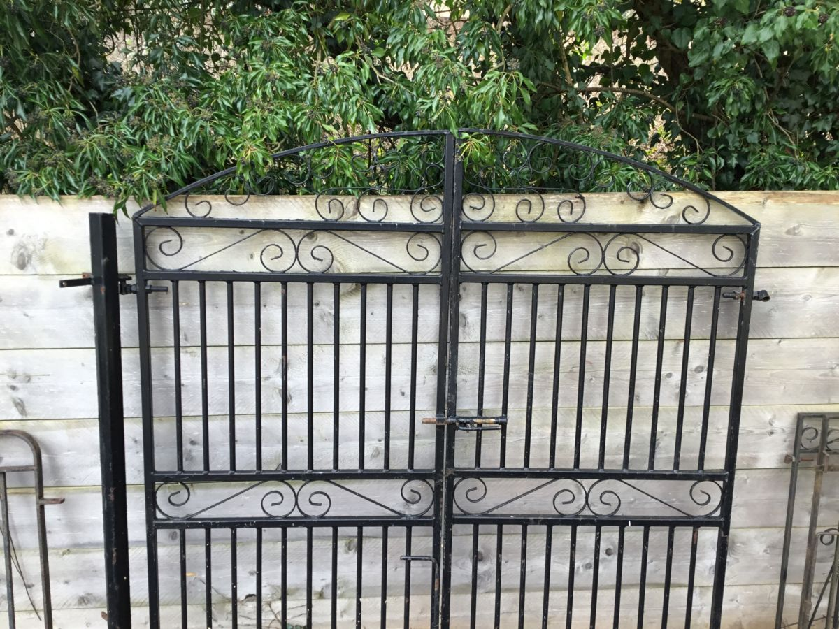 Wrought Iron Gate Pair