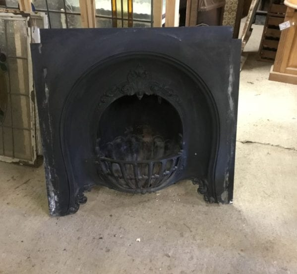 Large Cast Iron Fire Insert
