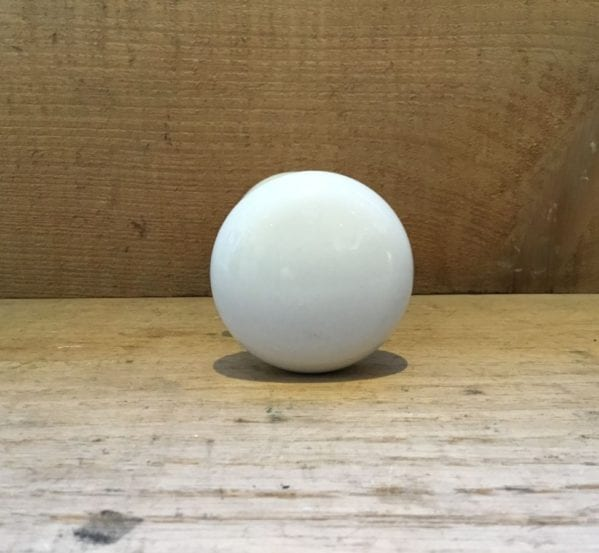 White Porcelain Round Door Knobs