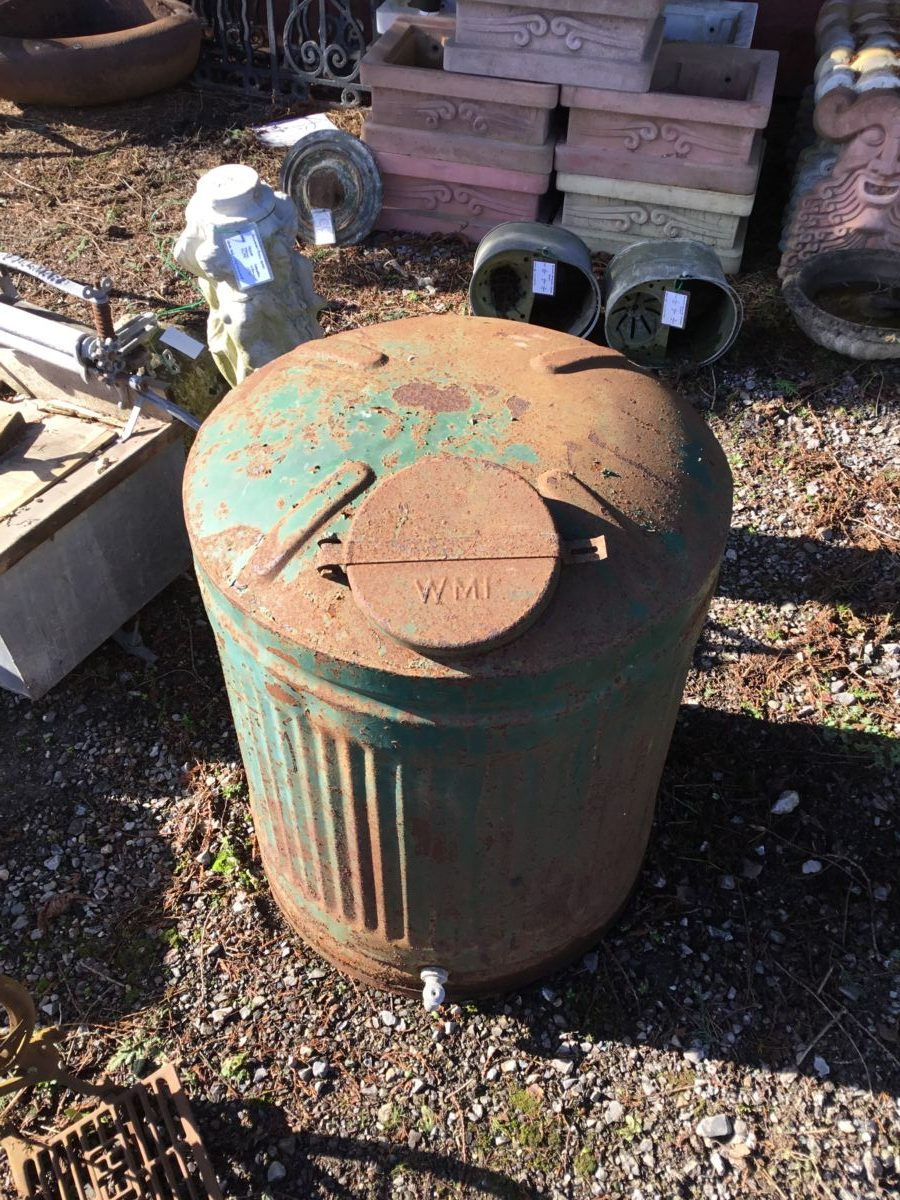 Large Green Oil Container