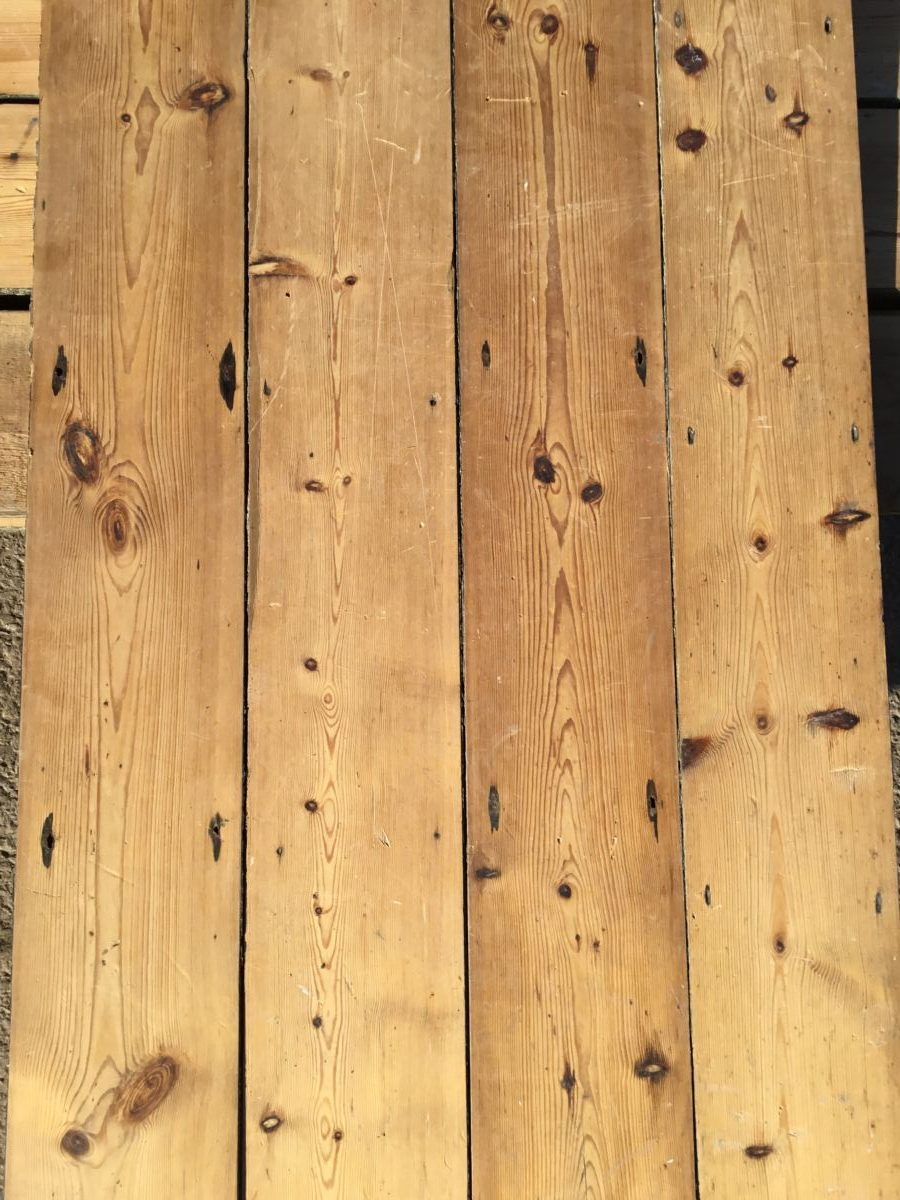 Reclaimed 1890's Victorian Village Hall Pine Floorboards