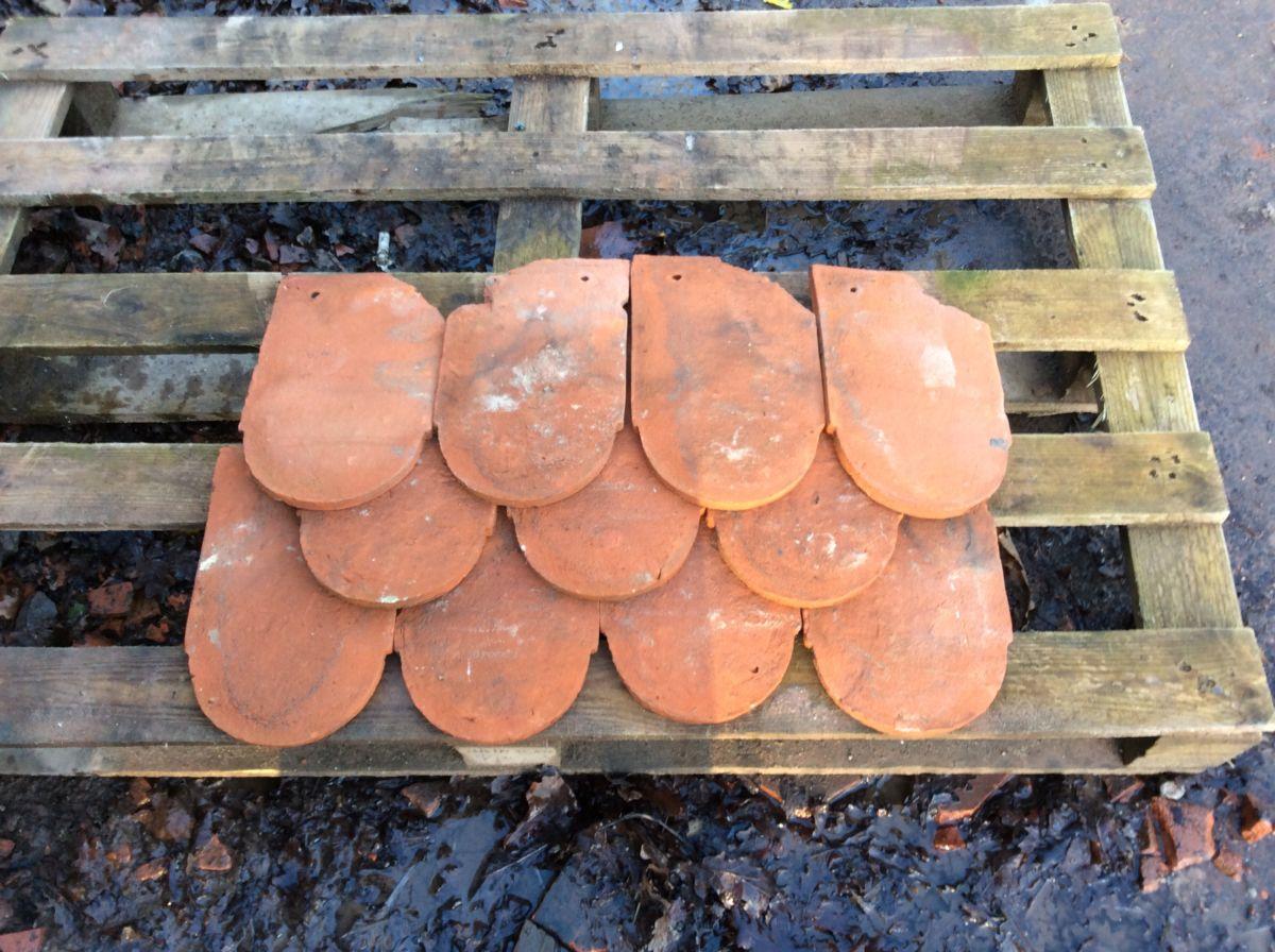 Handmade Orange Reclaimed Bull Nose Tile