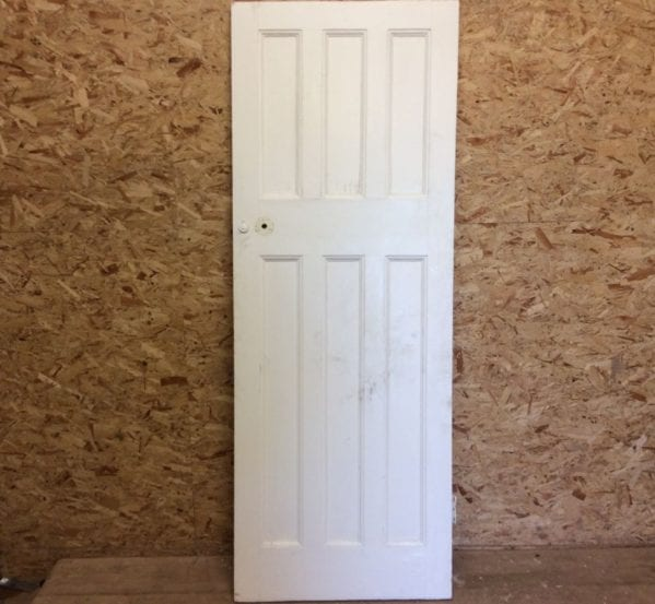 3/3 6 Panelled White Door