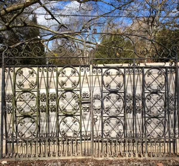 Beautiful Intricate Large Wrought Iron Gate