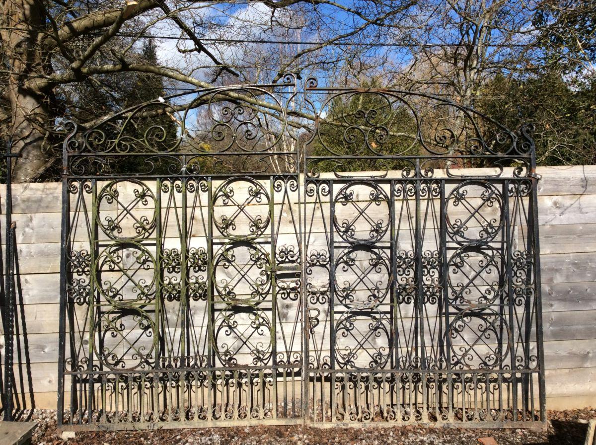 Beautiful Intricate Large Wrought Iron Gate