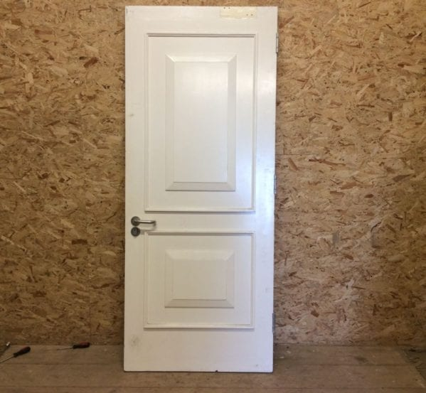 Fire Door White 2 Panelled