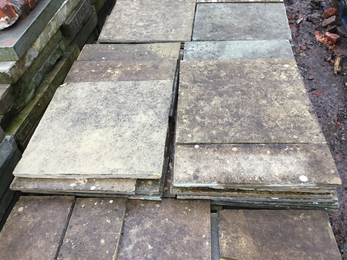 Reclaimed Thin Indian Sandstone Paving