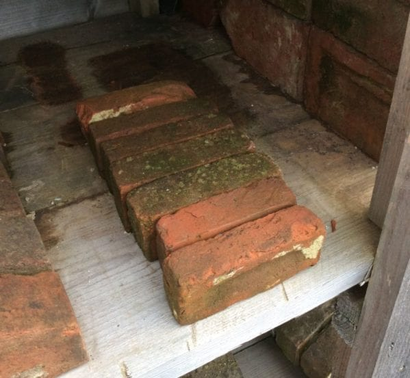 Small Reclaimed Orange Coping Bricks