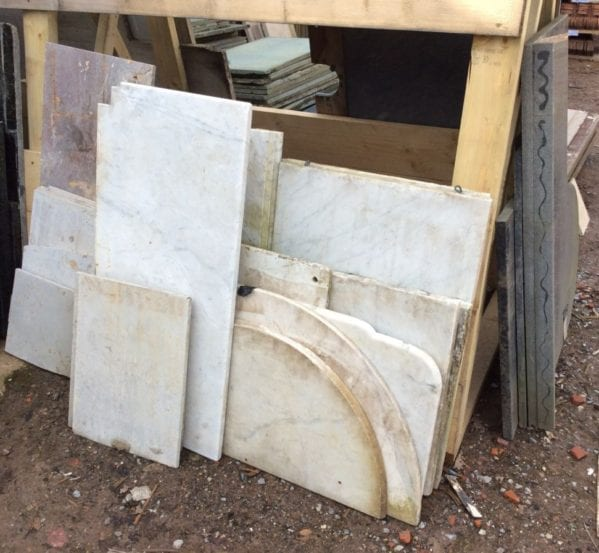Reclaimed White Marble Slabs