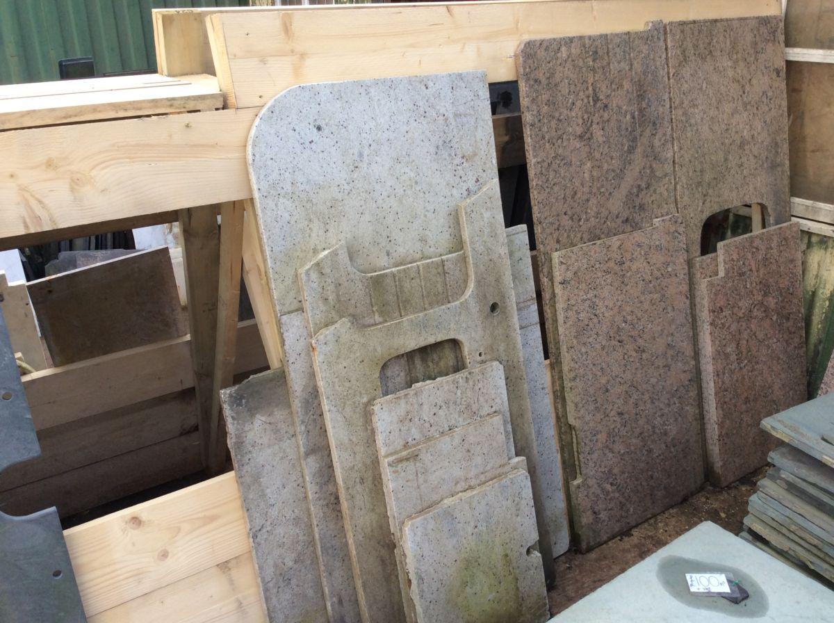 White Reclaimed Granite Slabs