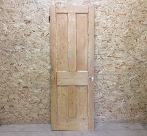 Nice Grain Stripped 4 Panelled Door