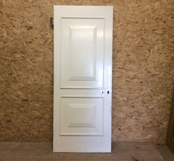 White 2 Panelled Fire Door