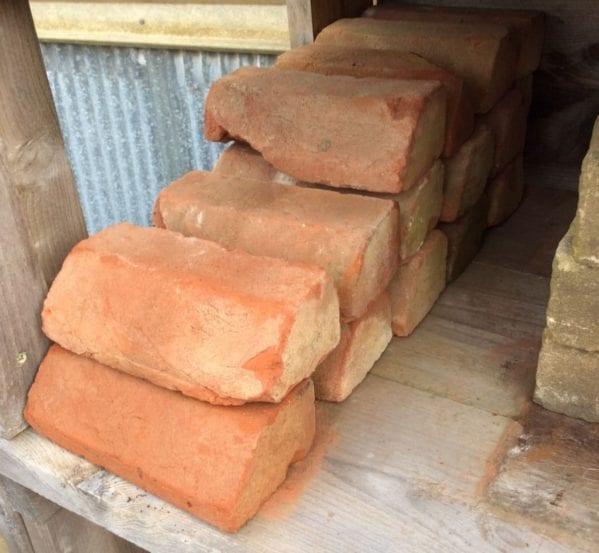 Reclaimed Orange Plinth Bricks