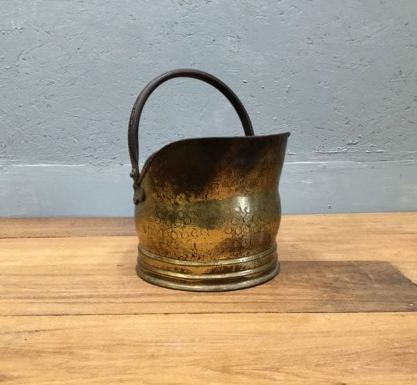 Hammered Metal Coal Bucket
