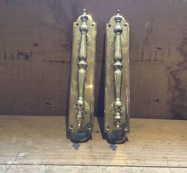 Spindle Style Brass Door Handles