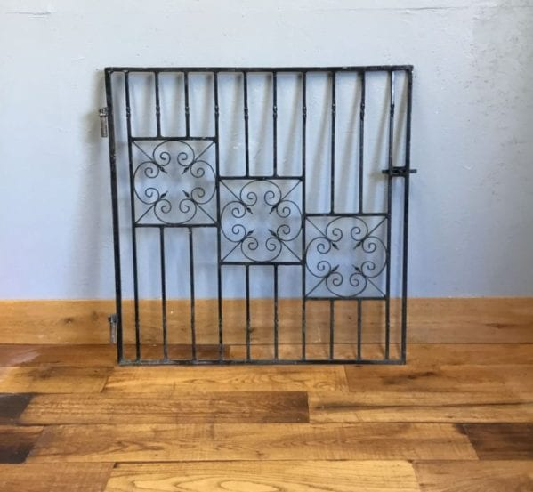 Wrought Iron Decorative Three Panel Gate