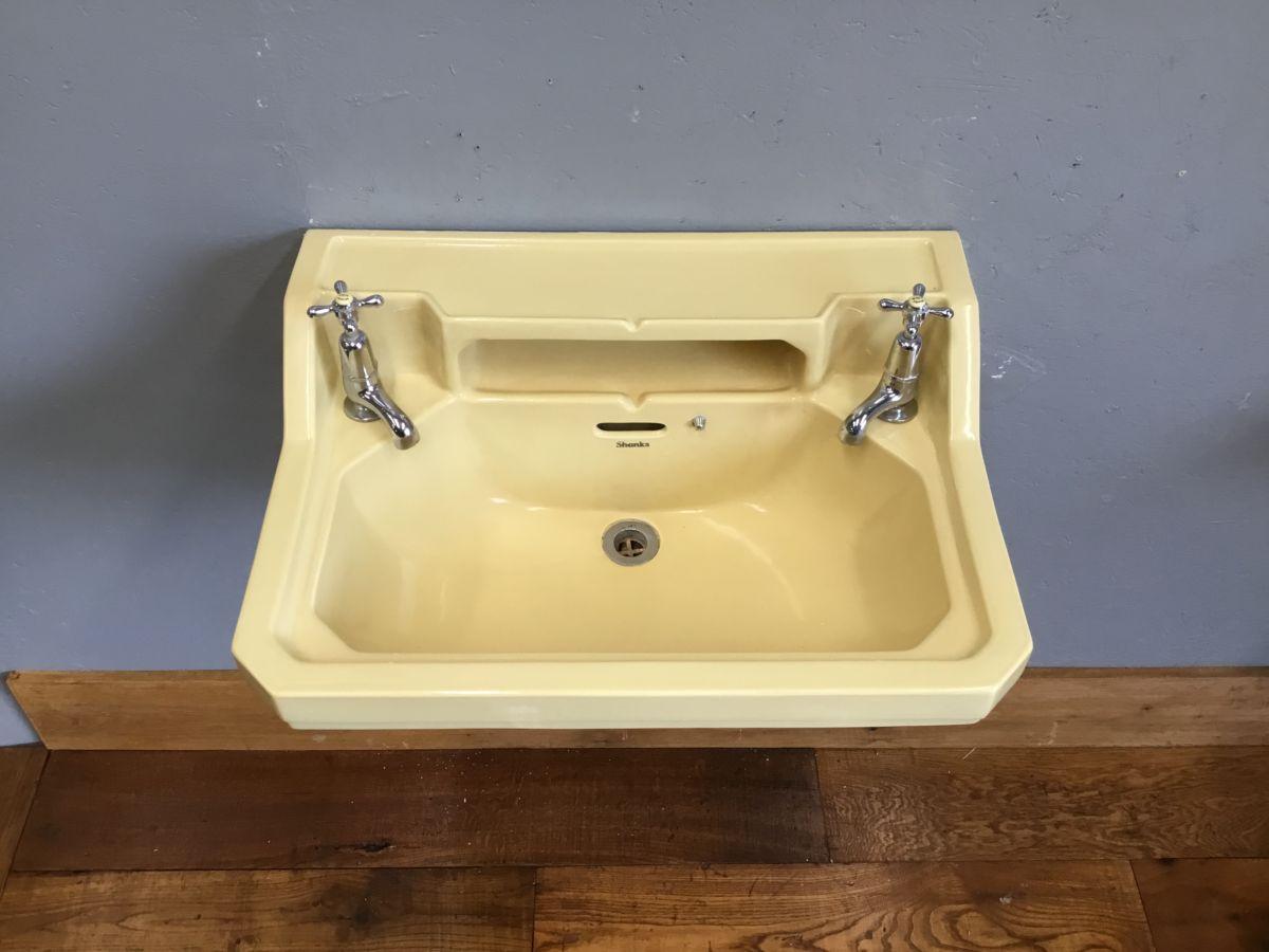 Shanks Yellow Sink & Original Taps